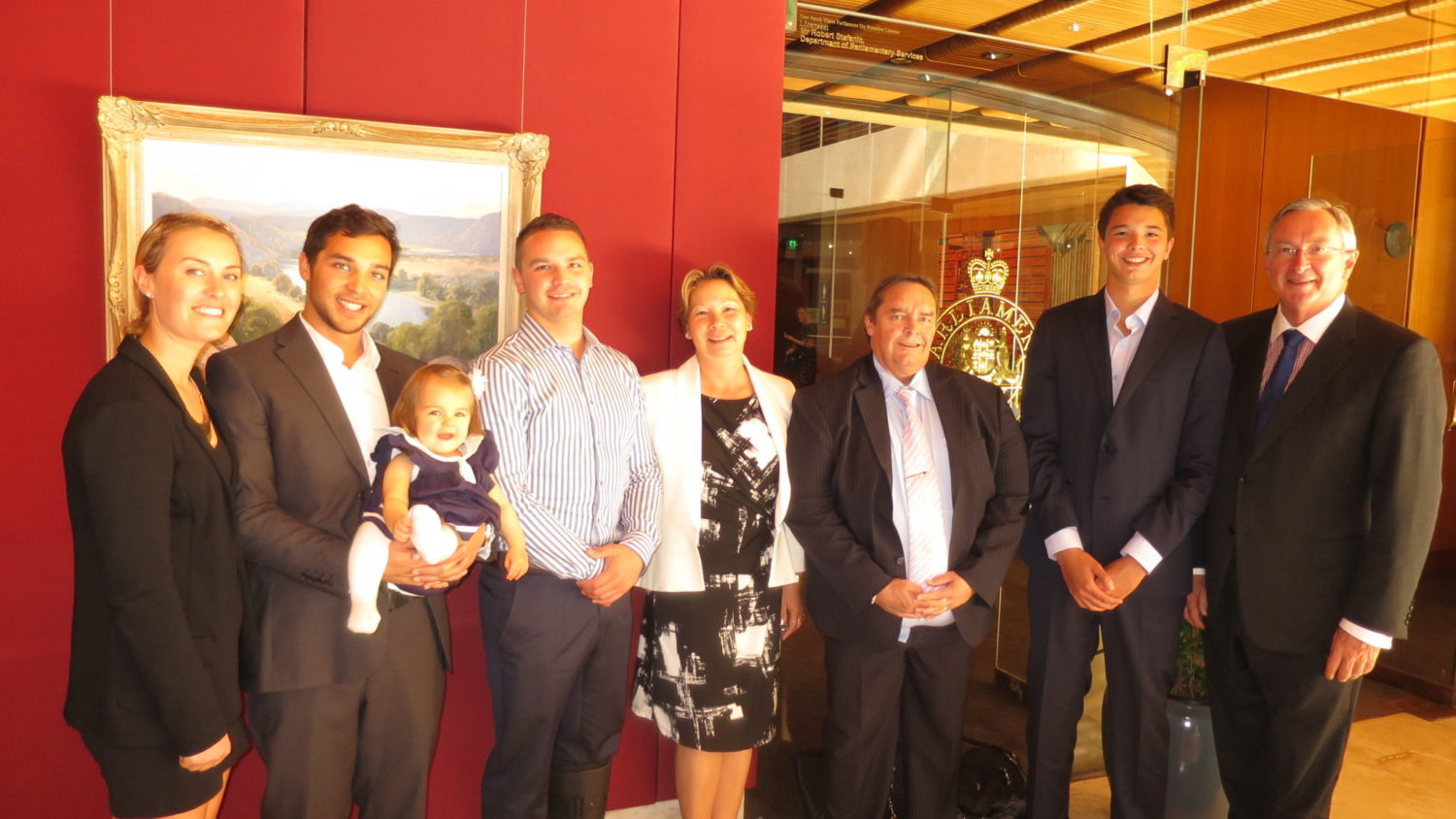Liam Knight & his family visit Parliament House