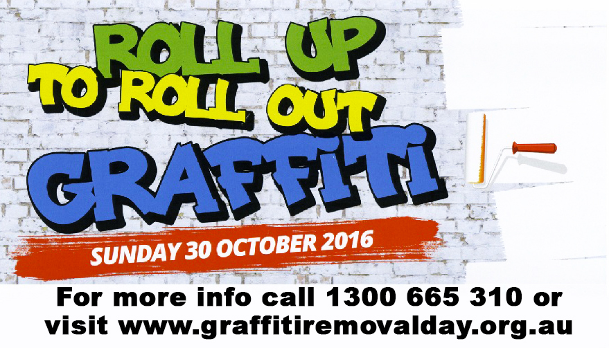 Graffiti Removal Day on Sunday, October 30