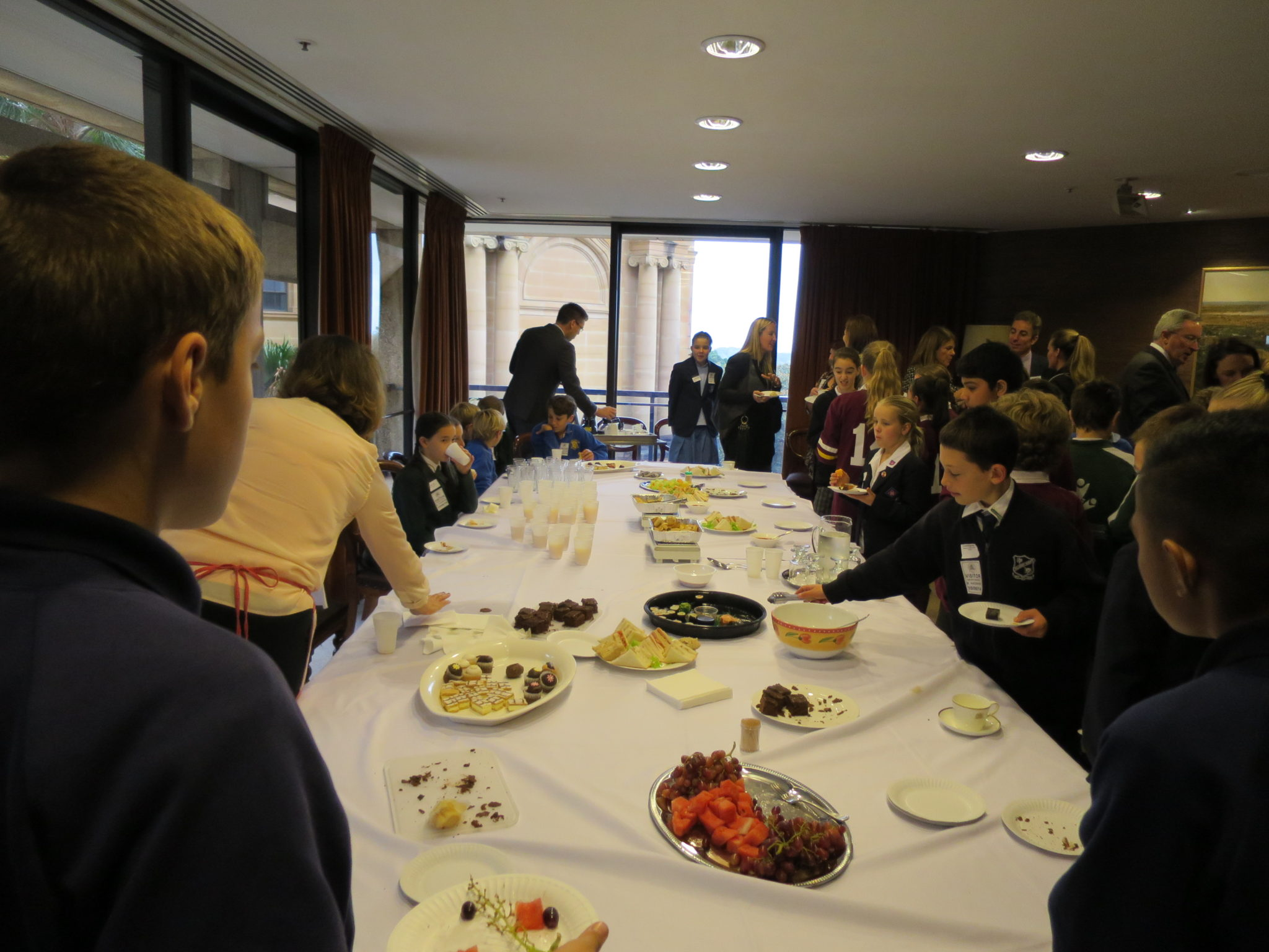 JUNIOR SCHOOL CAPTAINS MORNING TEA AT PARLIAMENT HOUSE