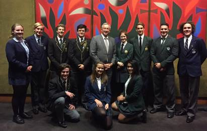 SENIOR SCHOOL CAPTAINS IN PARLIAMENT