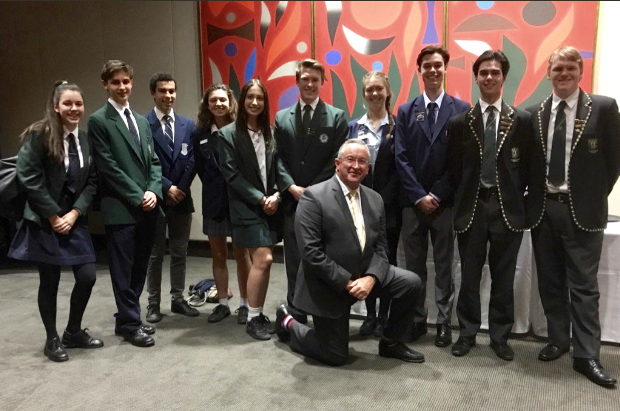 Senior School Captain's Dinner at Parliament House